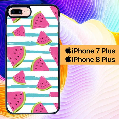 Watermelon Wallpaper 2 L0464 hoesjes iPhone 7 Plus , iPhone 8 Plus