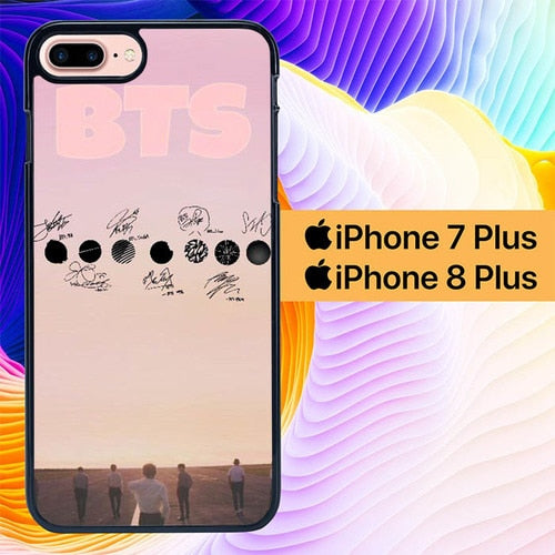 BTS KPOP L0482 hoesjes iPhone 7 Plus , iPhone 8 Plus