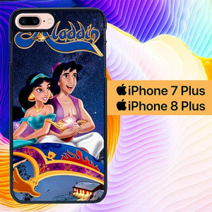 aladdin and jasmine L0491 hoesjes iPhone 7 Plus , iPhone 8 Plus