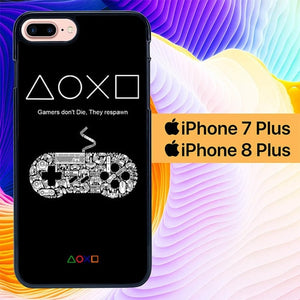 Gamers Button L0506 hoesjes iPhone 7 Plus , iPhone 8 Plus