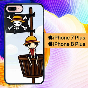 One Piece Luffy Drawing L0544 hoesjes iPhone 7 Plus , iPhone 8 Plus