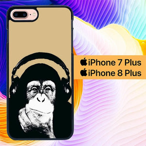 Play Music Monkey L0554 hoesjes iPhone 7 Plus , iPhone 8 Plus