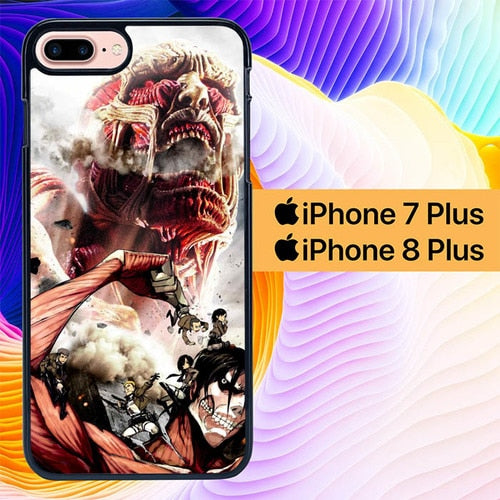 attack on titan L0599a hoesjes iPhone 7 Plus , iPhone 8 Plus