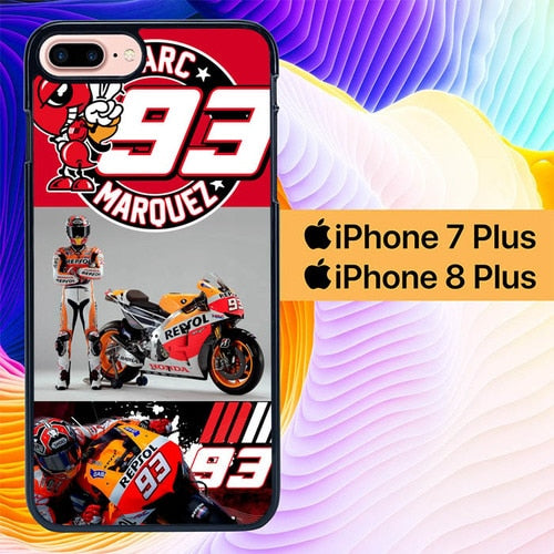 Motogp Marc Marquez L0624 hoesjes iPhone 7 Plus , iPhone 8 Plus
