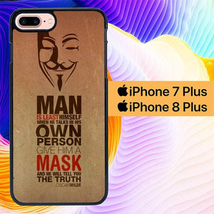Anonymous Oscar Wilde L0634 hoesjes iPhone 7 Plus , iPhone 8 Plus