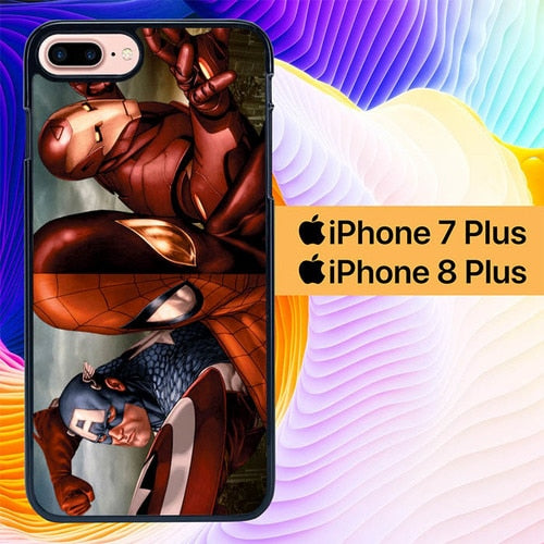 superheroes L0641a hoesjes iPhone 7 Plus , iPhone 8 Plus