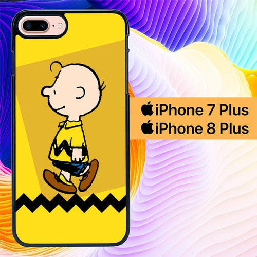 charlie brown simple L0645a hoesjes iPhone 7 Plus , iPhone 8 Plus