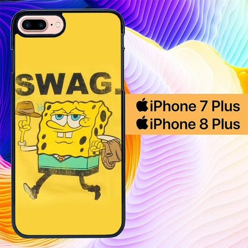 Spongebob Swag L0649 hoesjes iPhone 7 Plus , iPhone 8 Plus
