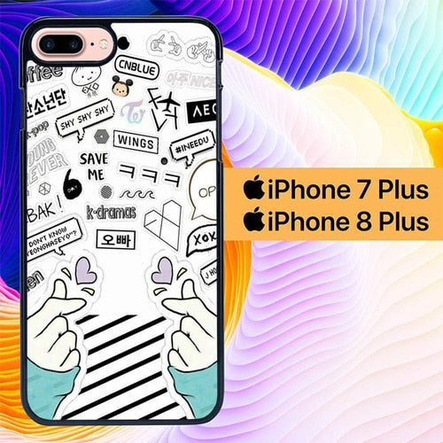 Fangirl Kpop L0673 hoesjes iPhone 7 Plus , iPhone 8 Plus