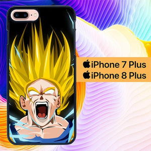 Goku Angry L0677 hoesjes iPhone 7 Plus , iPhone 8 Plus