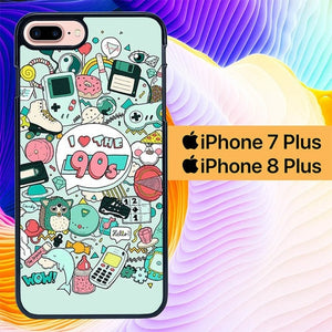 I Love The 90s L0683 hoesjes iPhone 7 Plus , iPhone 8 Plus