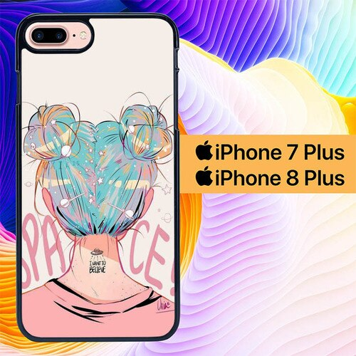 Space Girl L0696 hoesjes iPhone 7 Plus , iPhone 8 Plus
