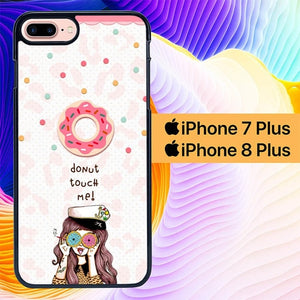 donut touch me girl L0794 hoesjes iPhone 7 Plus , iPhone 8 Plus