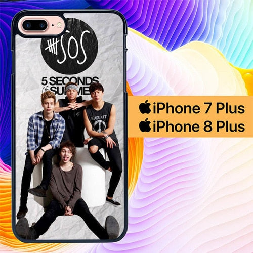 5 seconds of summer photo L0908 hoesjes iPhone 7 Plus , iPhone 8 Plus