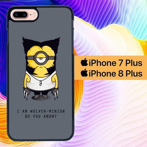 wolver-minion bored L0949 hoesjes iPhone 7 Plus , iPhone 8 Plus