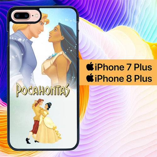 pocahontas and prince love L0953 hoesjes iPhone 7 Plus , iPhone 8 Plus