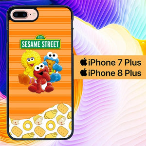 sesame street baby L0957 hoesjes iPhone 7 Plus , iPhone 8 Plus