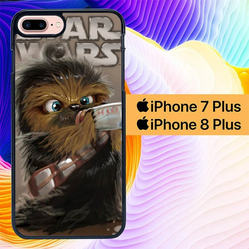 baby chewbacca star wars L1039 hoesjes iPhone 7 Plus , iPhone 8 Plus