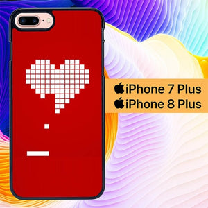 8 Bit Heart Valentines Day L1087 hoesjes iPhone 7 Plus , iPhone 8 Plus