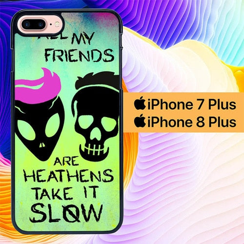 21 Pilots Heathens L1088 hoesjes iPhone 7 Plus , iPhone 8 Plus