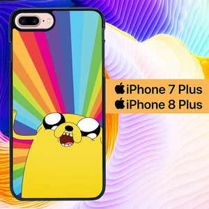 Adventure Time Jake Rainbow  L1145 hoesjes iPhone 7 Plus , iPhone 8 Plus