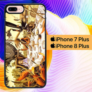 Alice in Wonderland Tea Time L1202 hoesjes iPhone 7 Plus , iPhone 8 Plus