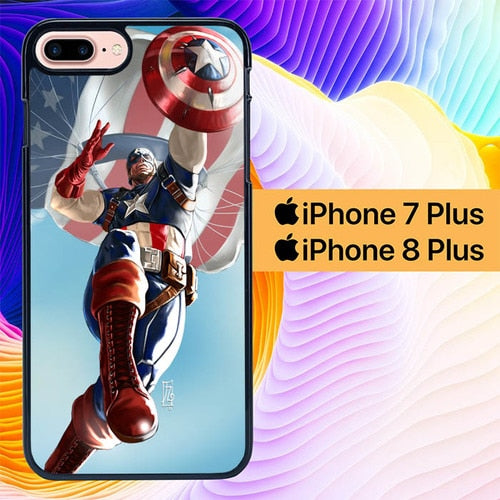 Captian America The First Avenger L1222 hoesjes iPhone 7 Plus , iPhone 8 Plus