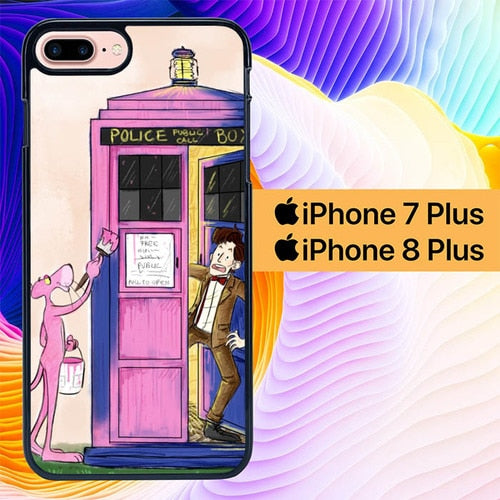 Doctor Who Tardis Funny L1235 hoesjes iPhone 7 Plus , iPhone 8 Plus