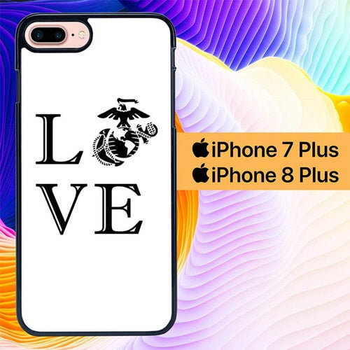 Marine Corps Love L1264 hoesjes iPhone 7 Plus , iPhone 8 Plus