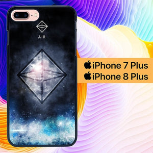 Sacred Geometry Symbol For Air L1283 hoesjes iPhone 7 Plus , iPhone 8 Plus