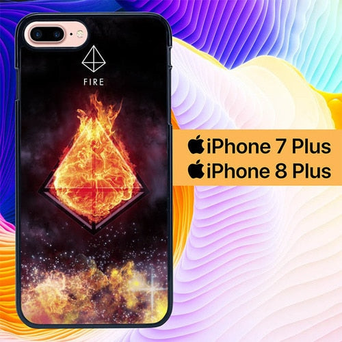 Sacred Geometry Symbol For Fire L1284 hoesjes iPhone 7 Plus , iPhone 8 Plus