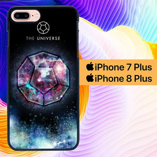 Sacred Geometry The Universe L1285 hoesjes iPhone 7 Plus , iPhone 8 Plus