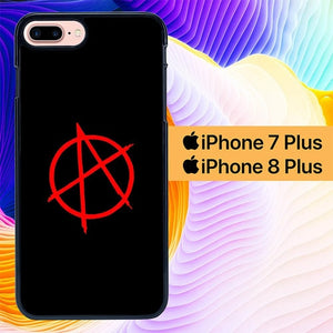 Anarchy Logo L1355 hoesjes iPhone 7 Plus , iPhone 8 Plus