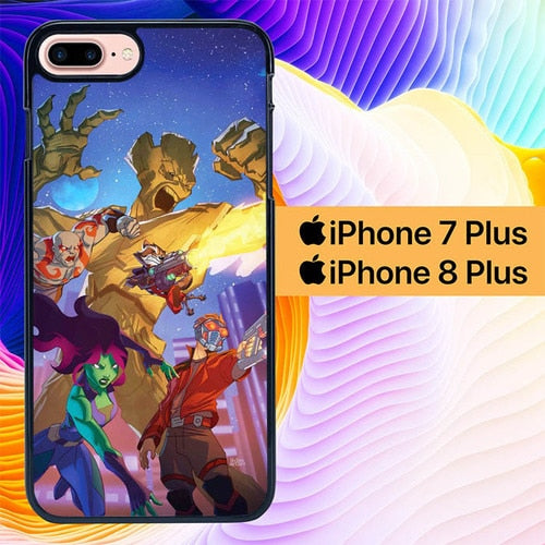 Guardians Of The Galaxy Disney Xd L1417 hoesjes iPhone 7 Plus , iPhone 8 Plus