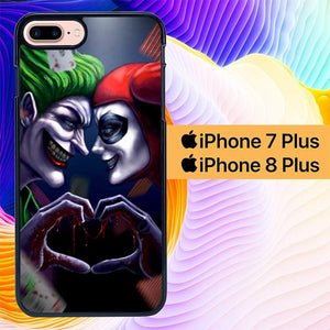 Harley Quinn And Joker L1420 hoesjes iPhone 7 Plus , iPhone 8 Plus
