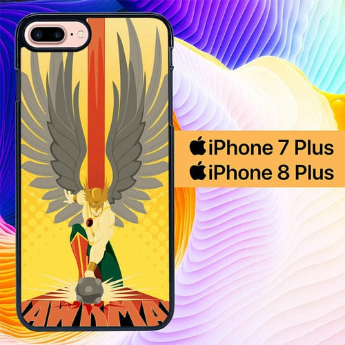 Hawkman Superhero L1433 hoesjes iPhone 7 Plus , iPhone 8 Plus