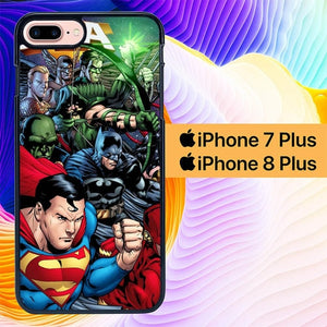 Justice League of America L1444 hoesjes iPhone 7 Plus , iPhone 8 Plus