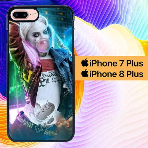 Margot Robbie Harley Quinn L1454 hoesjes iPhone 7 Plus , iPhone 8 Plus