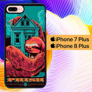Phish Dolla Bill Sloth L1470 hoesjes iPhone 7 Plus , iPhone 8 Plus
