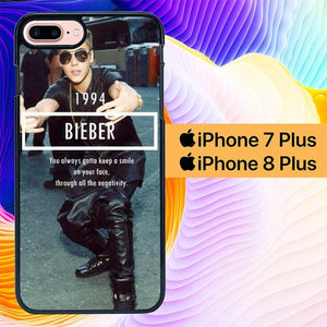 1994 Justin Bieber Believe Smile L1563 hoesjes iPhone 7 Plus , iPhone 8 Plus