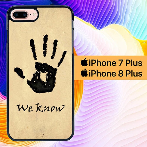 Skyrim Dark Brotherhood We Know L1598 hoesjes iPhone 7 Plus , iPhone 8 Plus