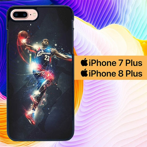 LeBron James NBA L1829 hoesjes iPhone 7 Plus , iPhone 8 Plus