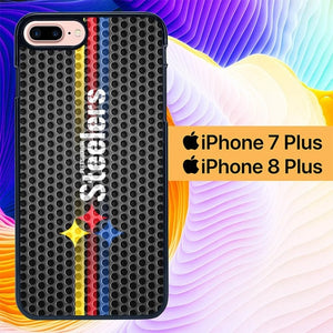 Pittsburgh Steelers Carbon Metal L1851 hoesjes iPhone 7 Plus , iPhone 8 Plus