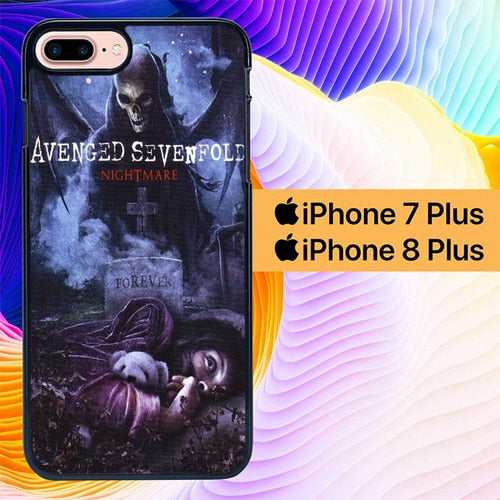 Avenged Sevenfold Nightmare Cover L1868 hoesjes iPhone 7 Plus , iPhone 8 Plus