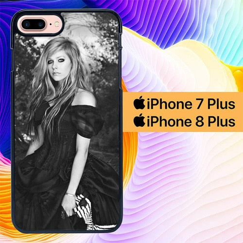 Avril Lavigne Standing L1869 hoesjes iPhone 7 Plus , iPhone 8 Plus