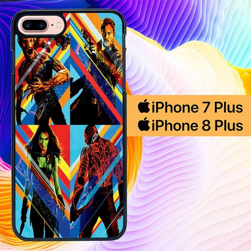 Guardians of the Galaxy Poster Art L1901 hoesjes iPhone 7 Plus , iPhone 8 Plus