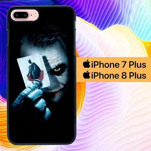 Joker Dark Knight Card L1911 hoesjes iPhone 7 Plus , iPhone 8 Plus