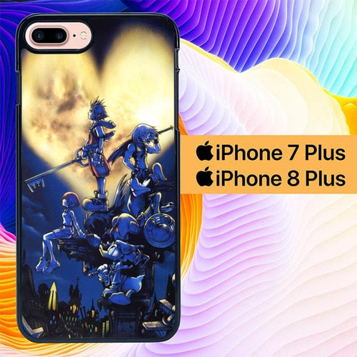 Kingdom Hearts Big Heart L1916 hoesjes iPhone 7 Plus , iPhone 8 Plus