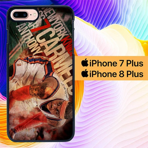 NBA Star Carmelo Anthony L1968 hoesjes iPhone 7 Plus , iPhone 8 Plus
