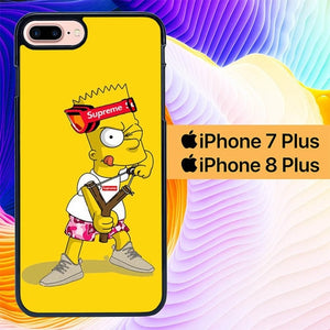 Explore Bart Simpson Supreme L2748 hoesjes iPhone 7 Plus , iPhone 8 Plus